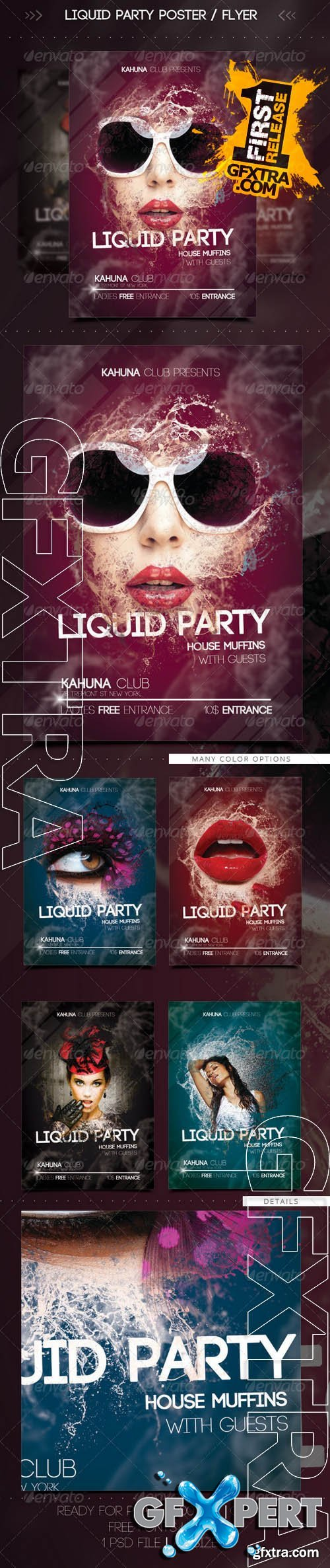 Wet Liquid Party Flyer / Poster - Graphicriver 7282123