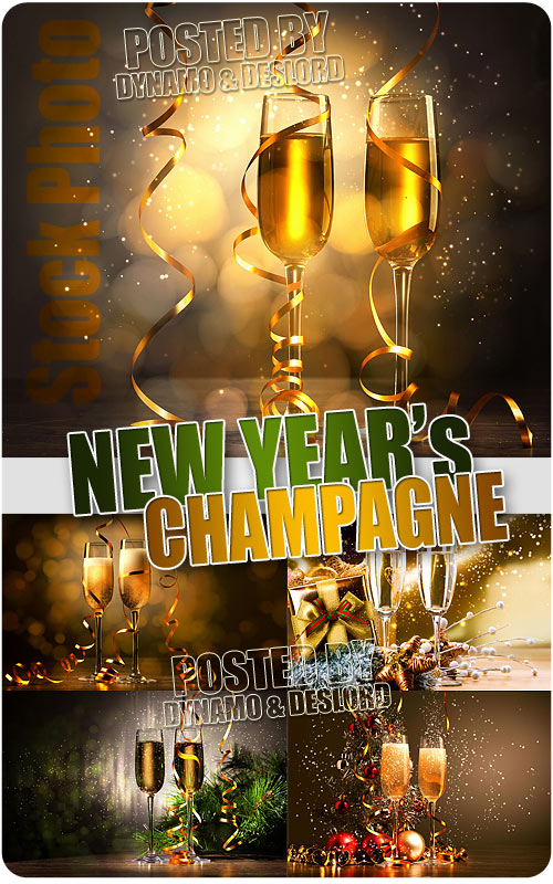 New Year's champagne - UHQ Stock Photo