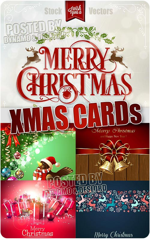 Xmas card - Stock Vectros