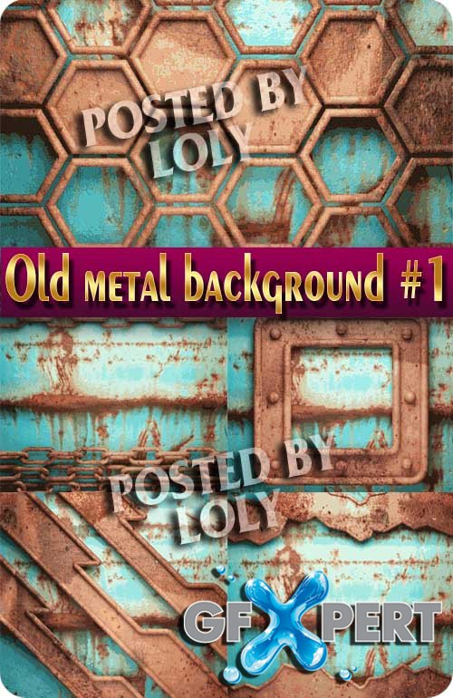 Background of old metal #1 - Stock Vector