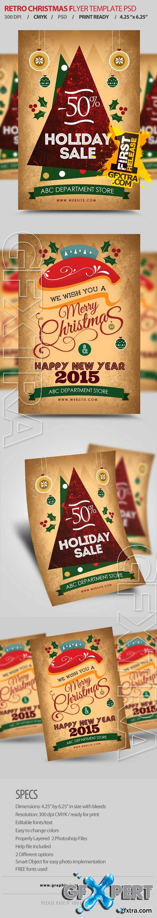 New Year / Christmas Flyers - Creativemarket 92832
