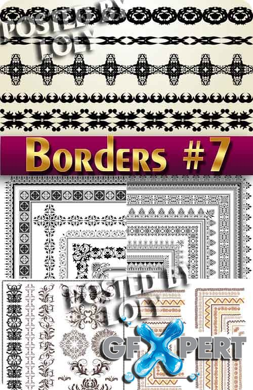Vintage elements and borders #7 - Stock Vector