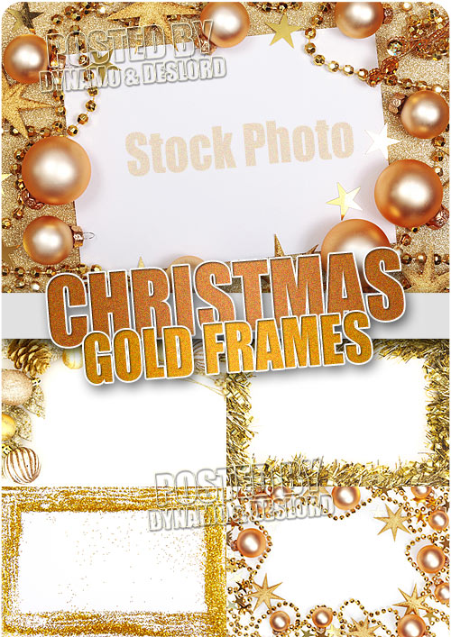 Christmas Gold frames - UHQ Stock Photo
