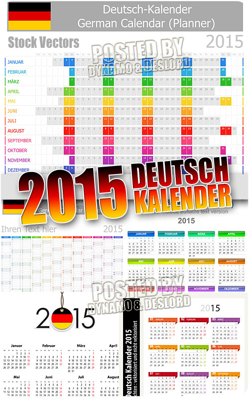 2015 German calendars - Stock Vectros