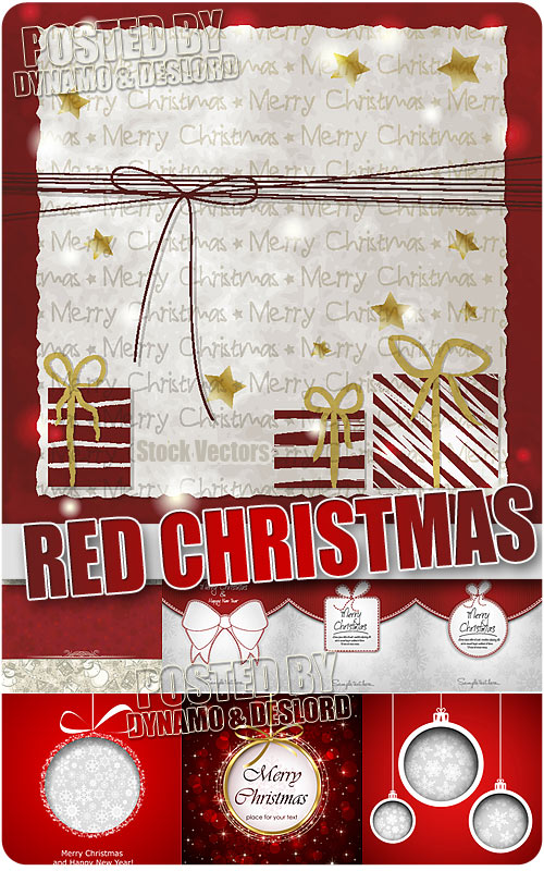 Red Christmas - Stock Vectors