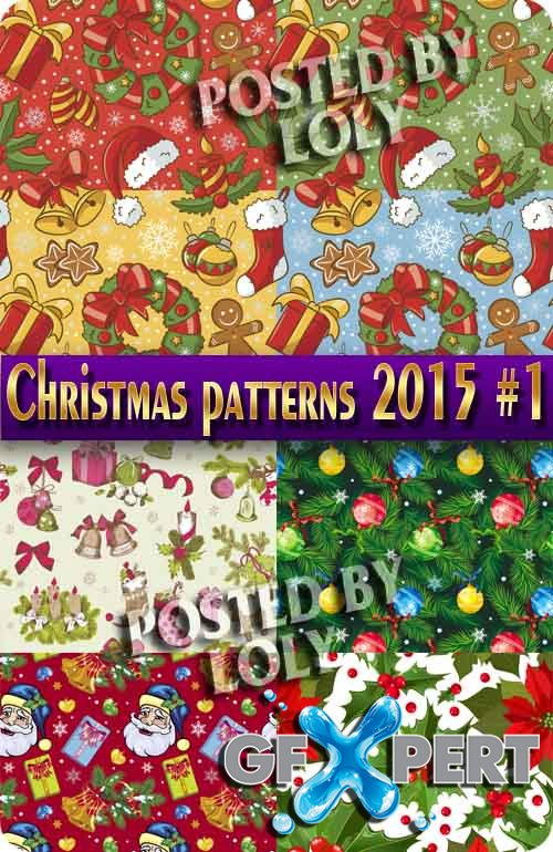 Christmas patterns 2015 #1 - Stock Vector