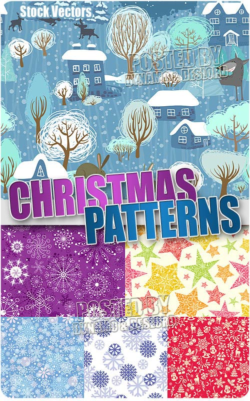 Christmas pattern - Stock Vectors