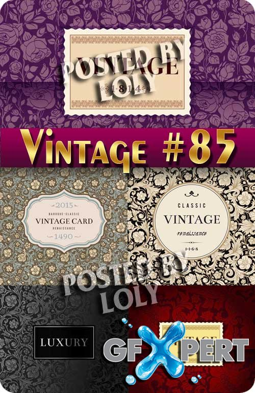 Vintage backgrounds #85 - Stock Vector