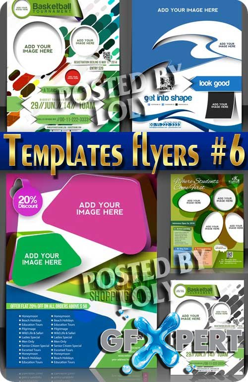 Flyer templates #6 - Stock Vector