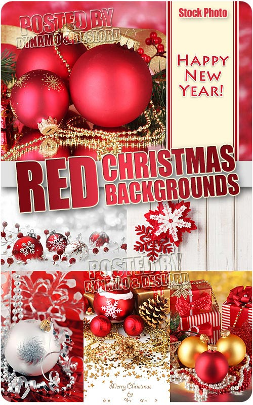 Red Christmas Compositions - UHQ Stock Photo