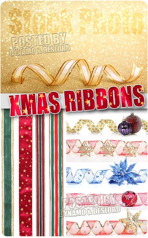 Xmas Ribbons - UHQ Stock Photo