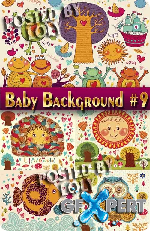 Baby backgrounds #9 - Stock Vector