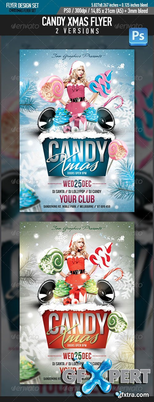 GraphicRiver - Candy Xmas Christmas Party Flyer Template