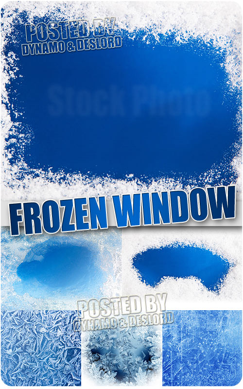 Frozen window - UHQ Stock Photo