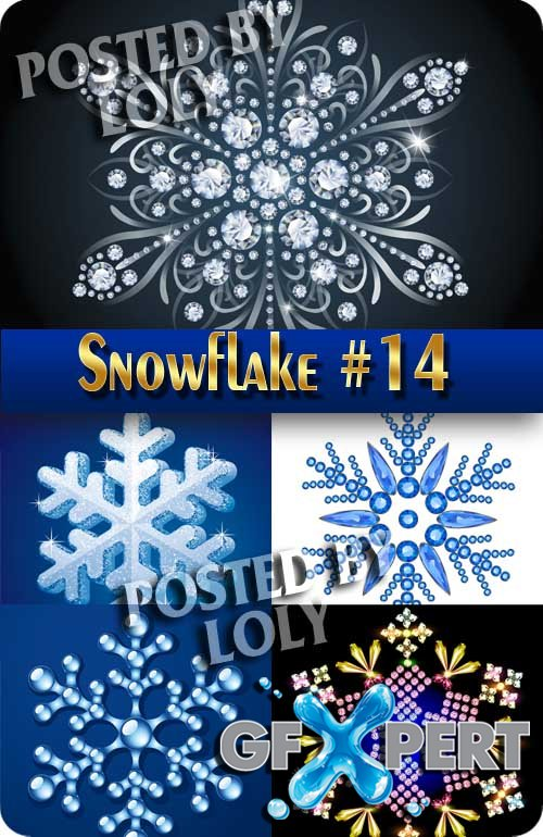Snowflakes #1 - Stock Vector