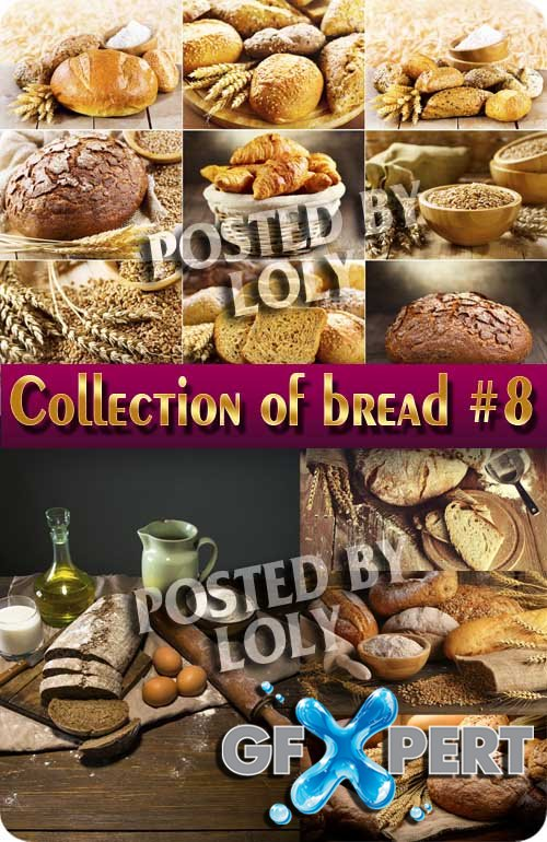 Food. Mega Collection. Bread and wheat #8 - Stock Photo