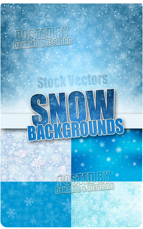 Snow backgrounds - Stock Vectors