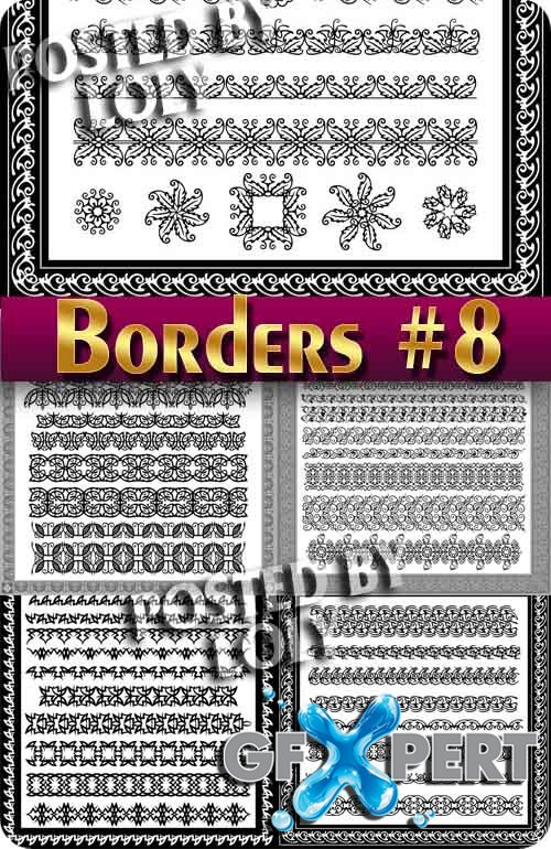 Vintage elements and borders #8 - Stock Vector