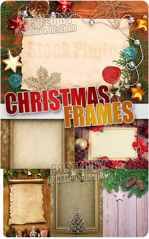 Christmas Frames 4 - UHQ Stock Photo