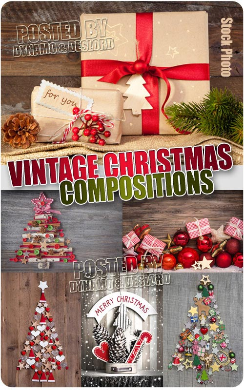 Vintage Xmas Compositions - UHQ Stock Photo