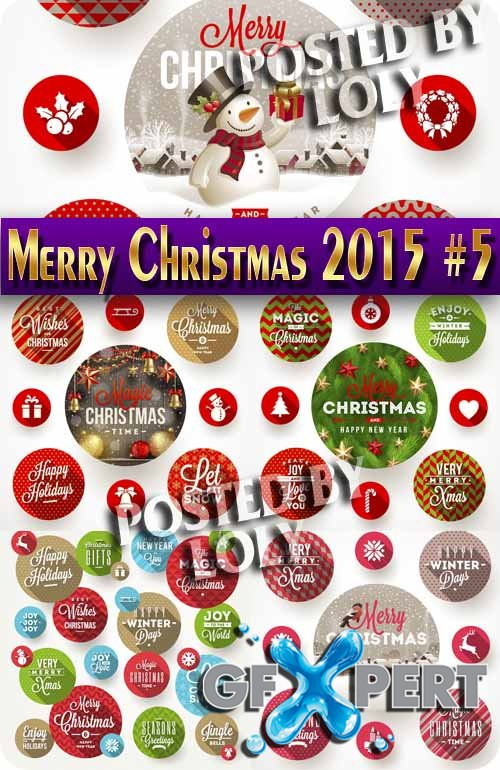 Merry Christmas Designs 2015 #8 - Stock Vector