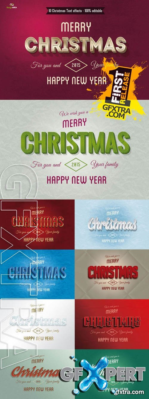 Christmas Text Effects - Creativemarket 105460
