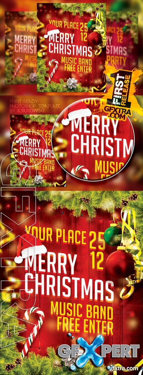 Merry Christmas Flyer - Creativemarket 104570
