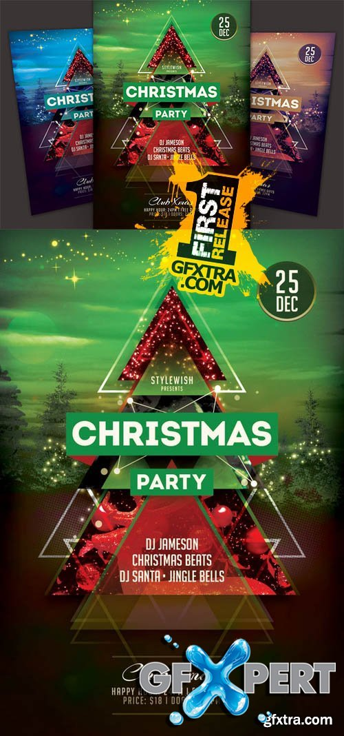 Christmas Party Flyer - Creativemarket 105520