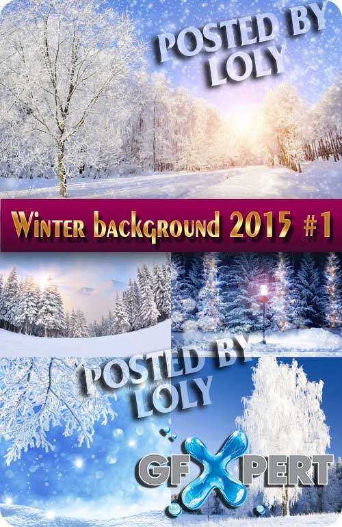 Winter backgrounds 2015 #1 - Stock Photo