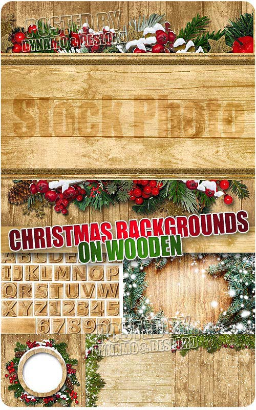 Christmas backgrouns on wooden - UHQ Stock Photo