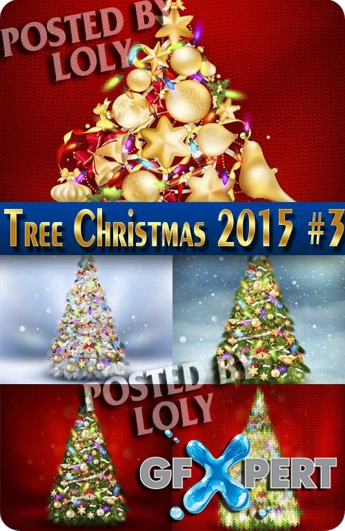 Christmas tree 2015 #3 - Stock Vector