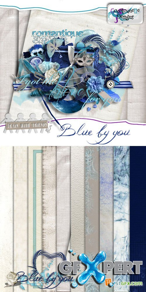 Scrap - Blue by You PNG and JPG
