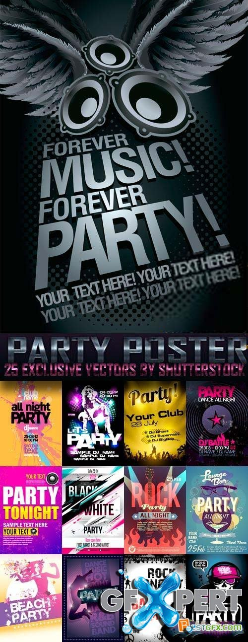 Party Poster 20xEPS