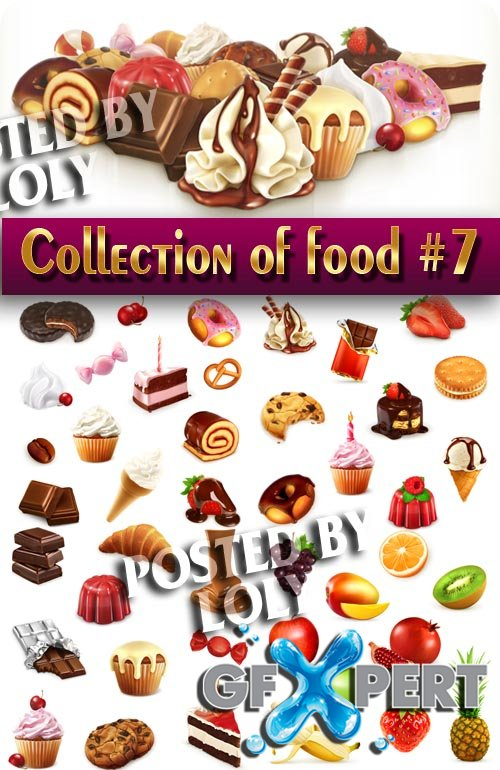 Food in the vector. Mega Collection #7 - Stock Vector