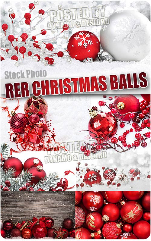 Red Christmas balls - UHQ Stock Photo