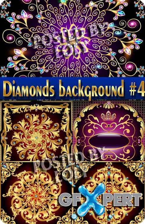 Backgrounds of precious stones and diamonds #4 - Stock Vector