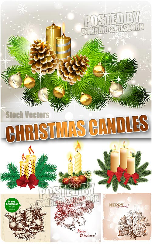 Xmas candles - Stock Vectors