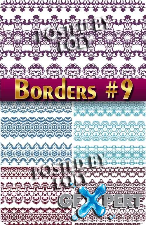 Vintage elements and borders #9 - Stock Vector