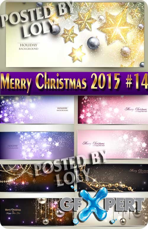 Merry Christmas Designs 2015 #14 - Stock Vector