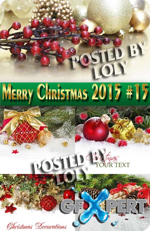 Merry Christmas Designs 2015 #15 - Stock Photo