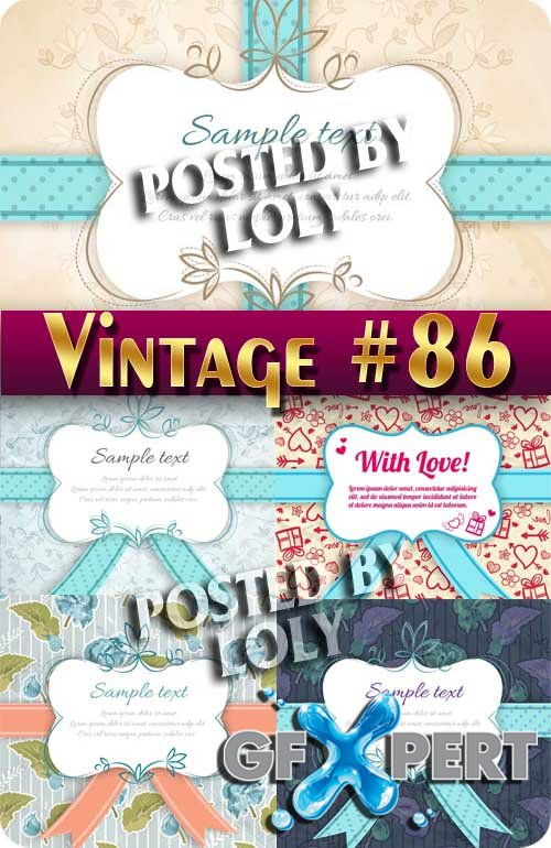 Vintage backgrounds #86 - Stock Vector