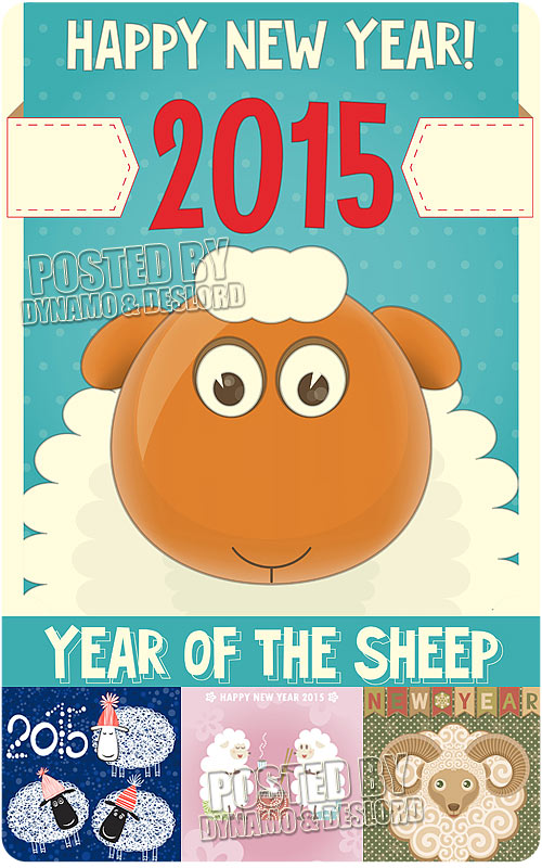2015 Year of the Sheep 7 - Stock Vectors
