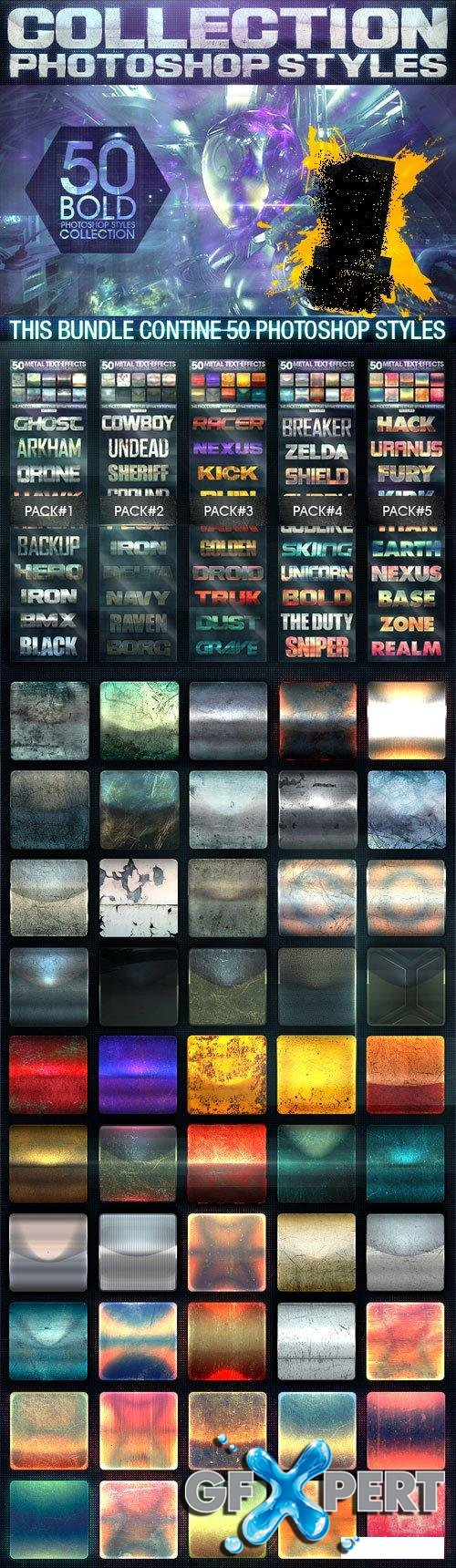 Graphicriver - 50 Metal Text Effects [Bundle V1] 9383460
