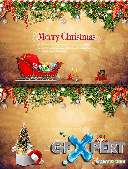 PSD Source - Christmas and New Year 2015 vol.10