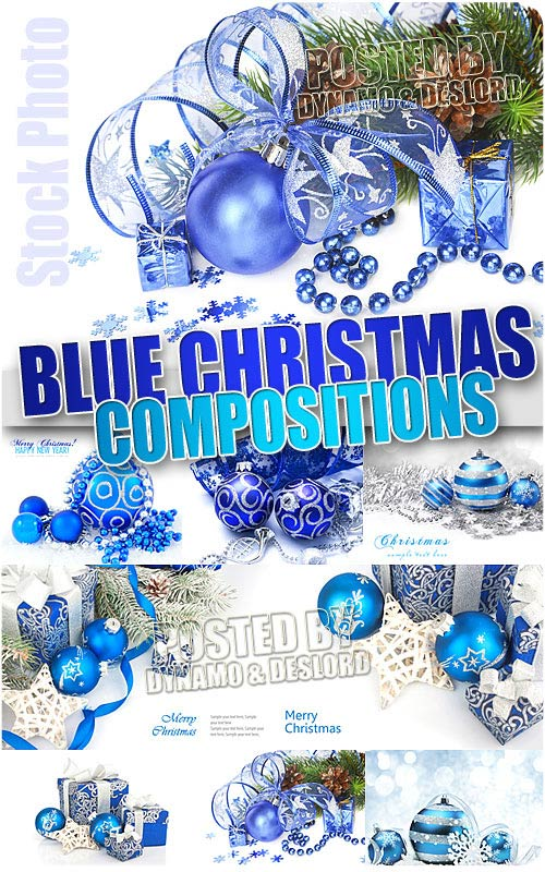 Xmas Blue Compositions - UHQ Stock Photo