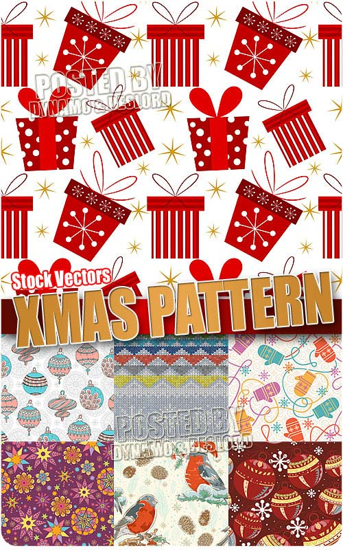 Xmas Pattern 5 - Stock Vectors