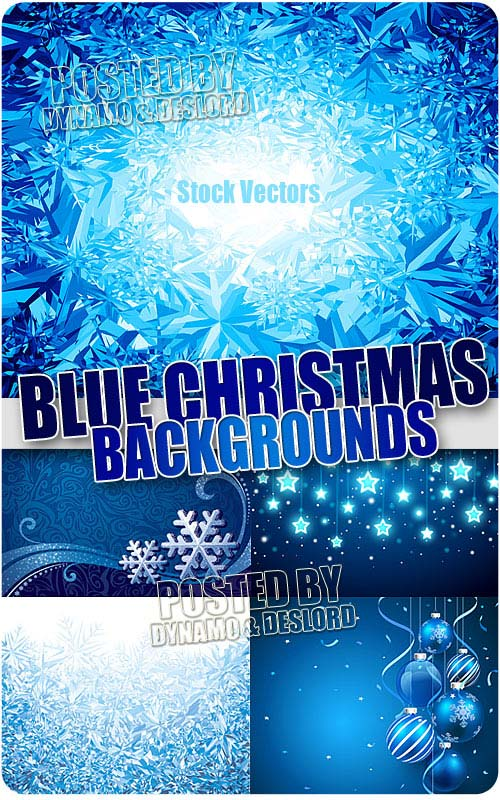 Blue Xmas backgrounds 3 - Stock Vectors