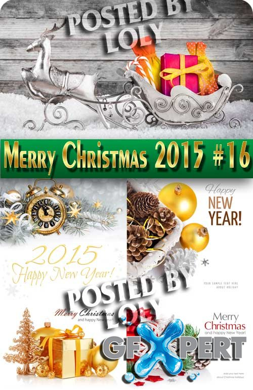 Merry Christmas Designs 2015 #16 - Stock Photo