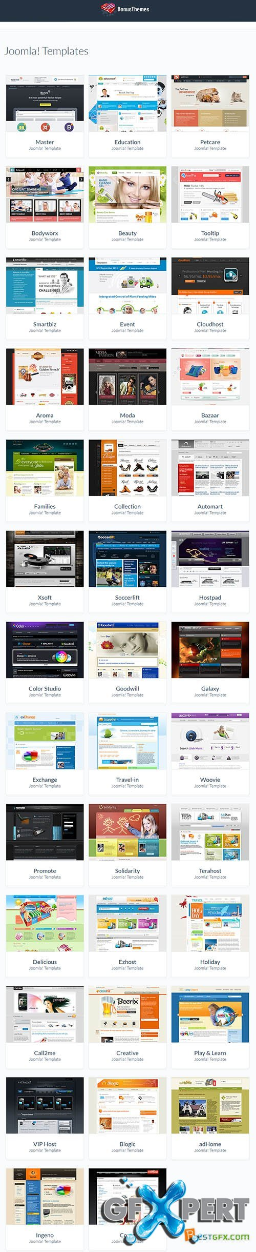 BonusThemes - All Joomla 2.5-3.x Themes Pack 2014