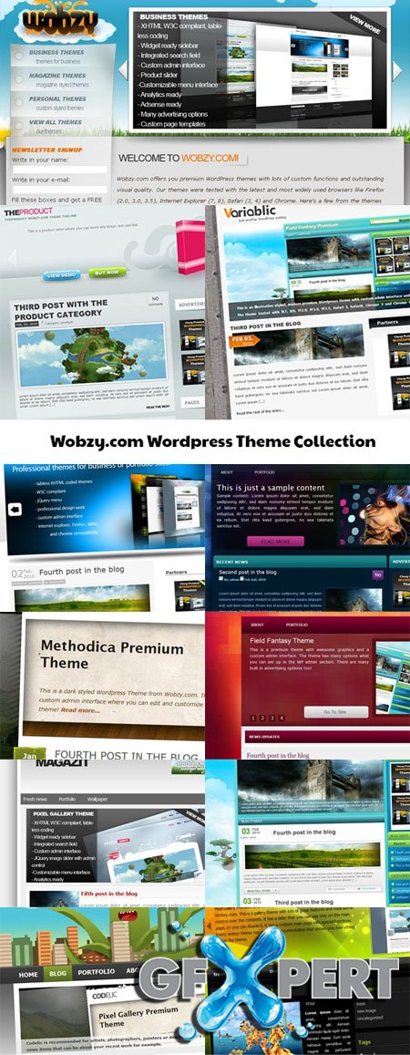 Wobzy Wordpress Themes Collection